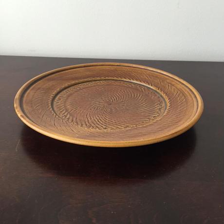八重山陶磁 縄文平皿(陶器)/宮良断(アンパル陶房)