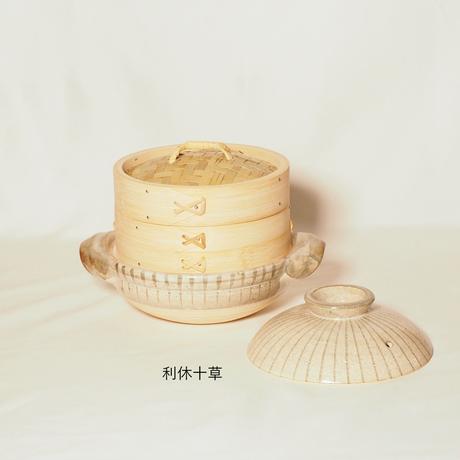 土鍋とセイロのセット 竹のせいろ 径18㎝(1段せいろ)