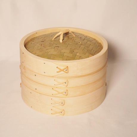土鍋とセイロのセット 竹のせいろ 径18㎝(2段せいろ)