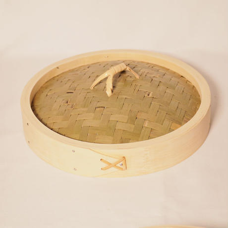 竹のせいろ 径24㎝ 身+蓋  (2段せいろ)