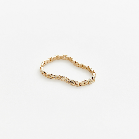 snake chain ring 13R101 / gold