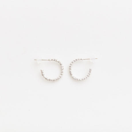 diamond fragment pierced earring 18P301 / silver