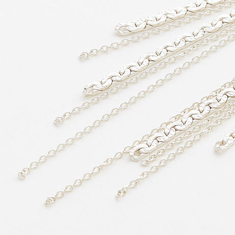 snake chain earring 13E103 / silver