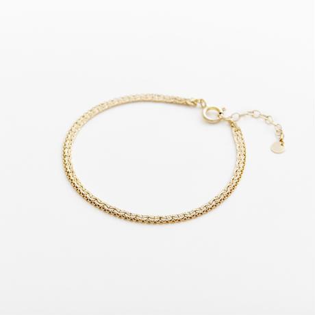 snake chain double strand bracelet 13B102 / gold