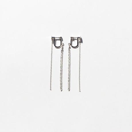 snake chain earring 13E102 / silver