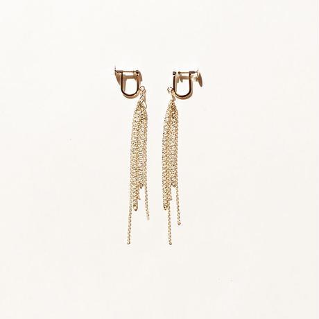 snake chain earring 13E103 / gold