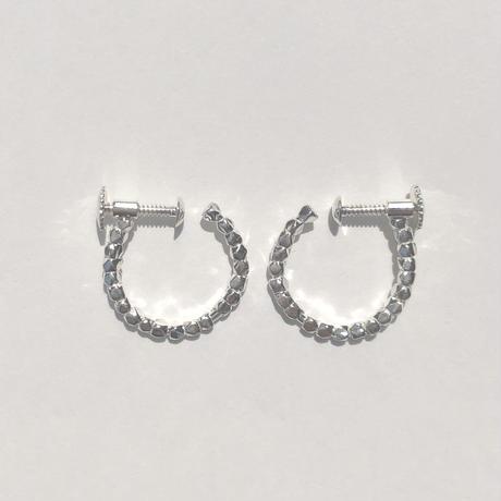 diamond fragment earring  18E301 / silver
