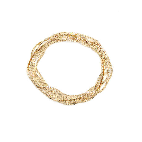 snake chain multi strand bracelet(necklace) 13B103 / gold