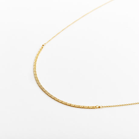 snake chain long necklace 13N103 / gold