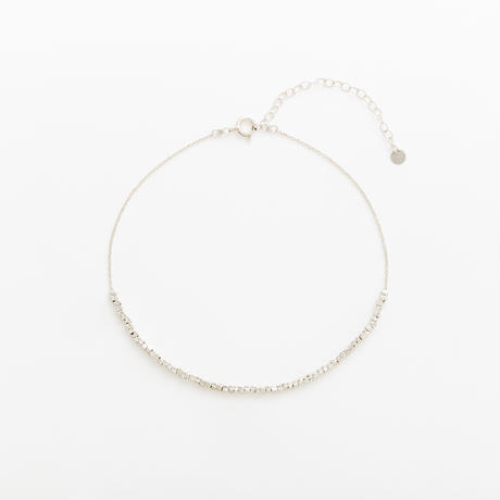 square beads anklet 08A101  / silver