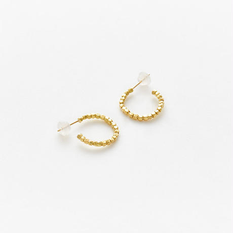 diamond fragment pierced earring 18P301 / gold