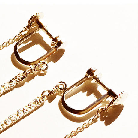snake chain earring 13E102 / gold