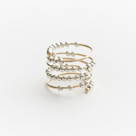 spiral ring 05R100 / K18 gold