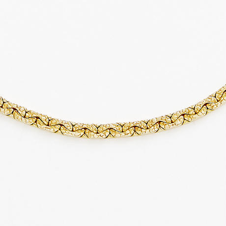 snake chain necklace 13N101 / gold