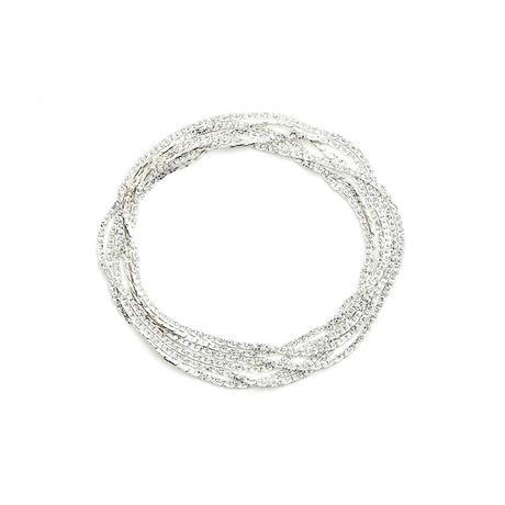 snake chain multi strand bracelet(necklace) 13B103 / silver