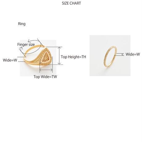 diamond fragment ring 18R302 / silver