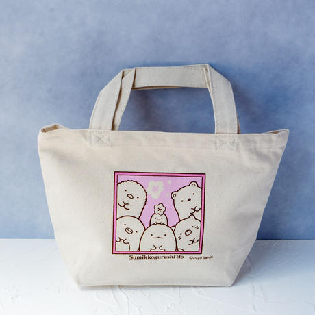 SMD019-01 ミニトートバッグ【桜とすみっコ】