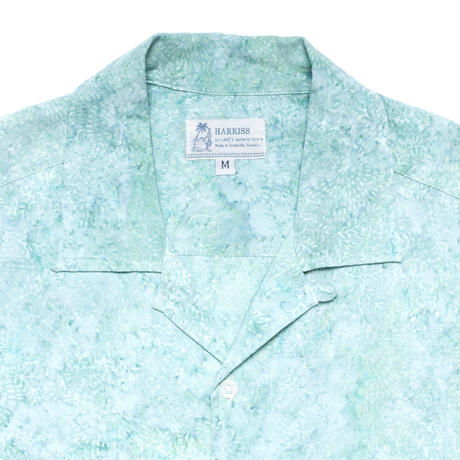 Batik Rayon Aloha Shirts - Aquamarine Frost / Made in Hawaii U.S.A.