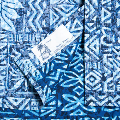 Men's Hawaiian Button Down Shirts - Kapa Blue