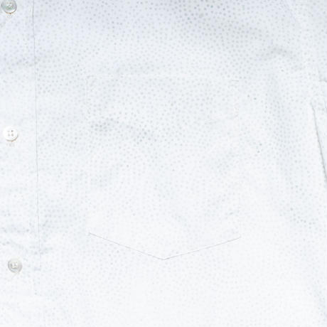 Batik Button Down Shirts - Dot White / Made in Hawaii U.S.A.