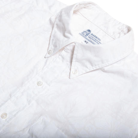 Men's Hawaiian Button Down Shirts - Kapa White