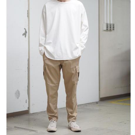 Herringbone Cargo Pants - BEIGE