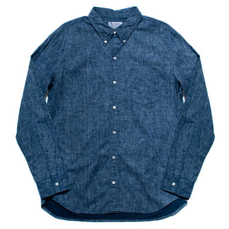 Men's Hawaiian Button Down Long Sleeve Shirts - Ocean Blue