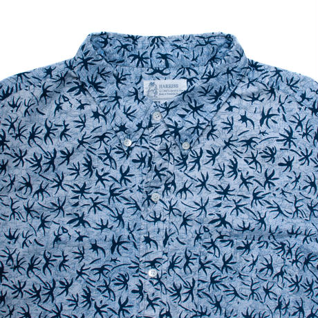 Men's Hawaiian Button Down Long Sleeve Shirts - Abstract