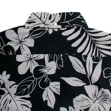 Men's Hawaiian Button Down Shirts - Leaf Black