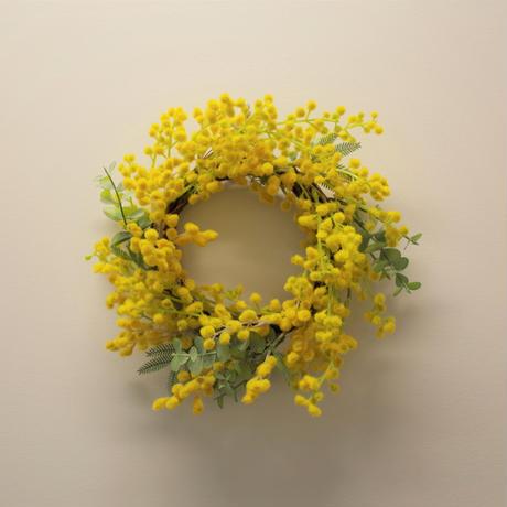 春を告げる幸せのミモザのリースtype-A