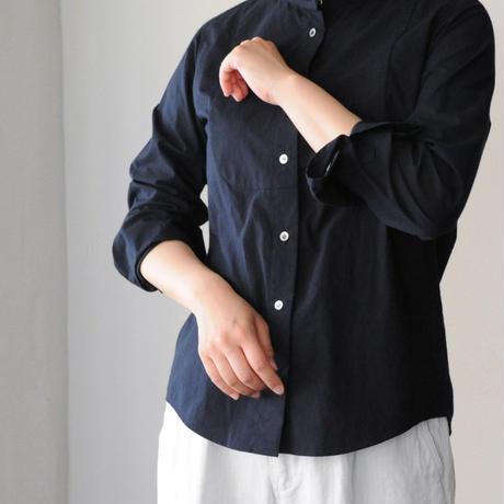 Houttuynia cordata スタンドカラーシャツ フロントヨーク 長袖 standard