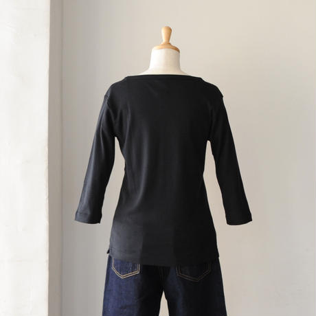FABRIQUE en planete terre ボートネックTシャツ 7分袖