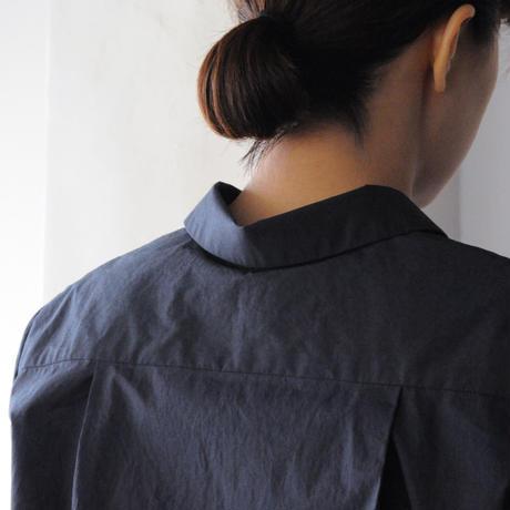 Houttuynia cordata ボックス型シャツ cotton