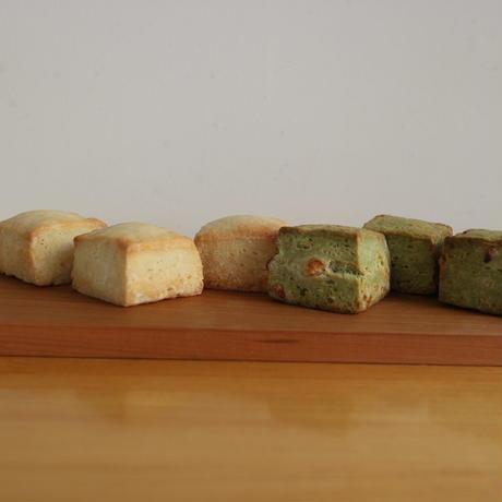 プレーンスコーン、モリンガとホワイトチョコのスコーン各3個のセット