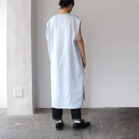 Honnete No Collar Shitrts Dress(ノーカラーシャツドレス)