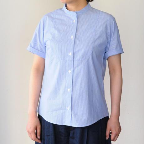 Houttuynia cordata スタンドカラーシャツ フロントヨーク 半袖