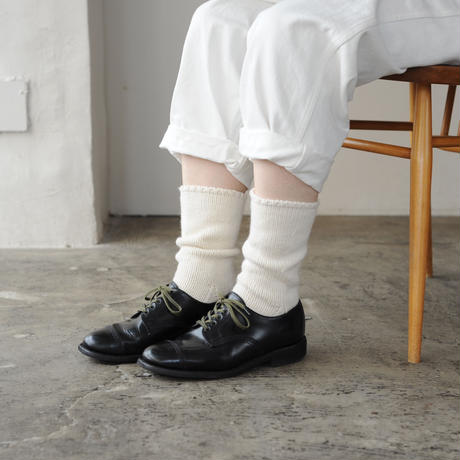 Meg KNITTING ウール手編み靴下 無地 【Men's 28.0cm〜】