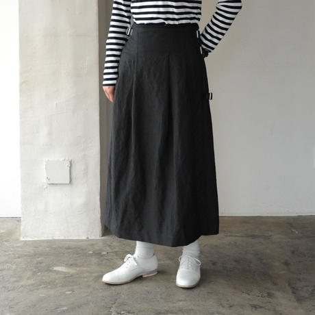 HAND ROOM WOMEN'S リネンウール キルトスカート
