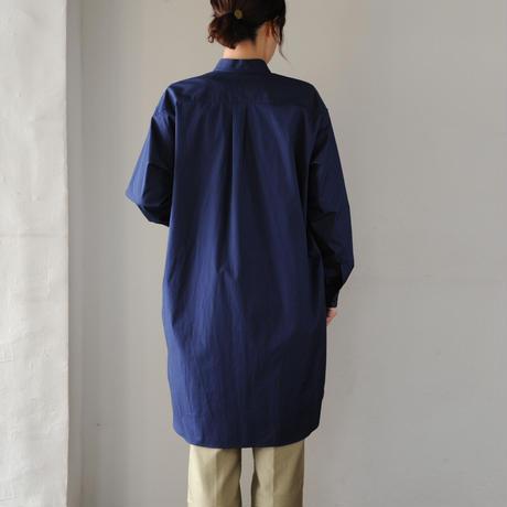 Houttuynia cordata スタンドカラー チュニック 長袖 cotton
