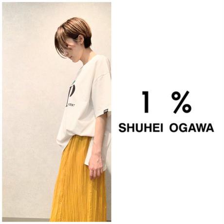 刺繍カットソー 1%イチパーセント