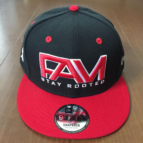 "FAM HAWAII ""LOGO "" NEW ERA 9fifty Hat Black / Red"