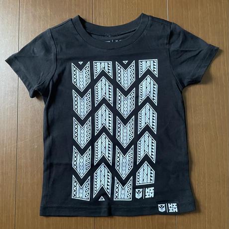 【KIDS TEE】2020 HIFI OKAKOPA LINE【HAWAII'S FINEST】TRIBAL BW