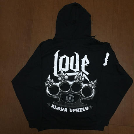 "POLY LOVE HAWAII ""ALOHA UPHELD"" Pullover Hoodie Black"