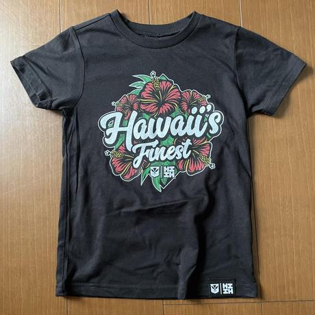 【KIDS TEE】2020 HIFI OKAKOPA LINE【HAWAII'S FINEST】HIBISCUS RED