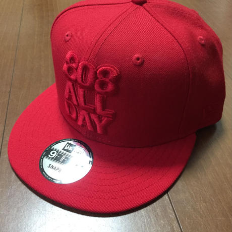 """808ALLDAY """"LOGO""""  Hat RED/RED"""