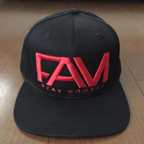 "FAM HAWAII ""LOGO"" Hat Black / Red"