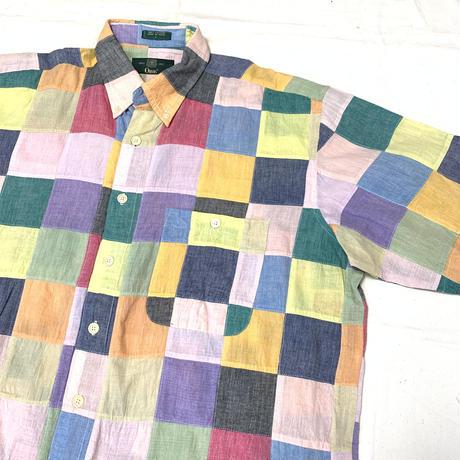 "ORVIS ""crazy pattern  check shirt"""
