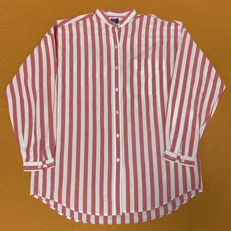 "GAP "" Nocollar Stripe  shirt"" old gap 90s"