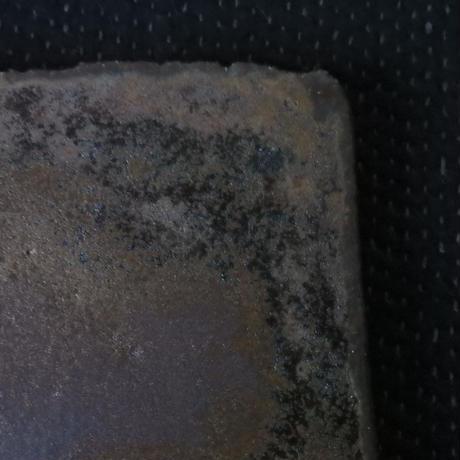 隆香窯 正方皿 マンガン釉