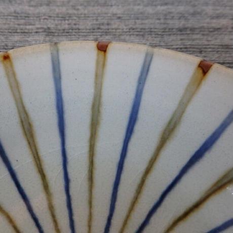 袖師窯 丸型鉢十草 大